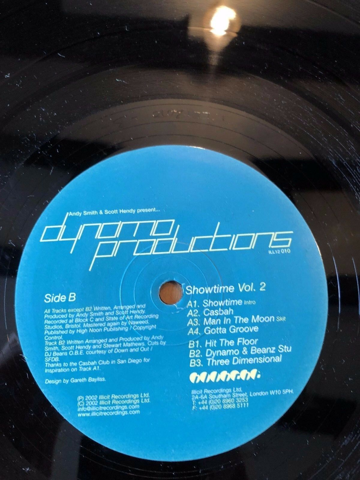 "2002 DYNAMO PRODUCTIONS ""SHOWTIME VOLUME 2"" VINYL LP ALBUM RECORD"