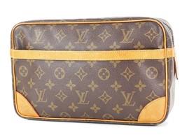 Authentic LOUIS VUITTON Compiegne 28 GM Monogram Pochette Clutch Bag #34100 - $249.00