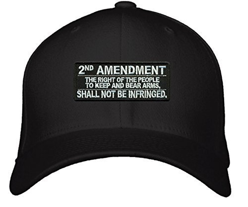 2nd Amendment Text Hat - Adjustable Mens Black - The Right of the People to Keep