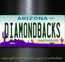 Arizona Diamondbacks MLB Baseball Team Arizona Aluminum Vanity License Plate Ta - $12.69