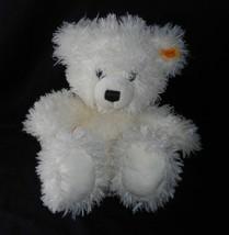 STEIFF 111662 WHITE FUZZY LIZZY TEDDY BEAR STUFFED ANIMAL PLUSH SOFT TOY... - $61.29