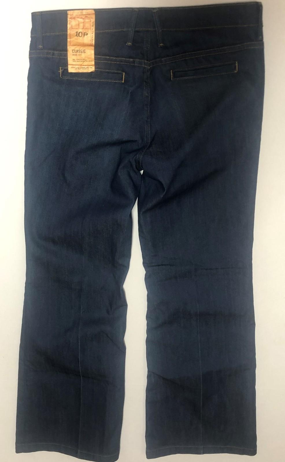 Banana Republic Classic Jeans Sz 10P Stretch Medium Blue Wide Leg image 5