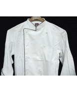 Dickies White with Black Piping Grand Master Chef Coat Chefwear Jacket 3... - $37.21