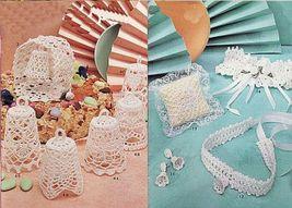 Crochet Mini Wedding Christening Tabletop Decor Centerpiece Xmas Bells Patterns - $12.99