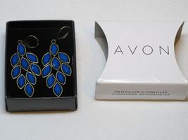 Ladies Womens Avon Autumn Colors Drop Earrings blue F3769981 NIP;; - $29.69