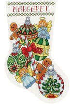 Design Works Ornaments Angel Candy Christmas Cross Stitch Stocking Kit 6853 - $29.95