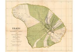 Lanai Island, Hawaii; Antique Map by Newton, 1878 - $26.72+