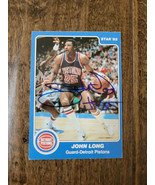 1984-85 Stella 85 Autografato Scheda John Lungo Detroit Pistons Pacers H... - $9.97