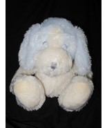 Applause Puppy Dog Baby Blue White Plush Stuffed Animal Shaggy Fur Close... - $14.72