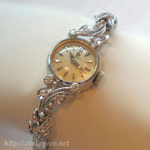 Antique OMEGA 4 Point Diamonds 14K GOLD 15.5mm Art Deco Ladies Dress Watch - $2,914.00