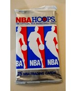 Two (2) 1990-91 NBA Hoops Wax Pack (Red Box) - 15 Cards each - $0.98