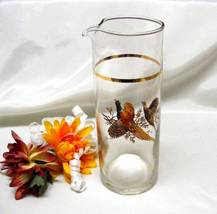 3897 Vintage Princess House Clear Colonial Pheasant Martini Pitcher - $14.50