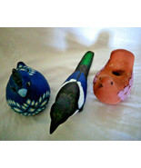 Lot of three Birds Hand Crafted studio pottery and plastic mould - $14.24