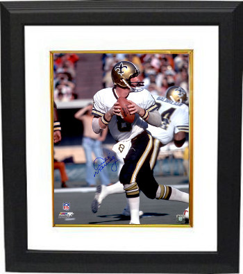 Primary image for Archie Manning signed New Orleans Saints 16x20 Photo Custom Framed (blue signatu
