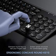 Rechargeable Wireless Keyboard and Mouse, Jelly Comb 2.4GHz Ultra Slim Quiet Key image 4