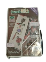 """Cross-Stitch Cosmetic Pouch From Charles Craft Floral 5 x 8"""", Aida 14 - $8.72"""