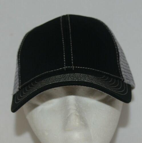 Mega Cap 7641 Grey Mesh Back Black Twill Front Trucker Hat