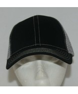 Mega Cap 7641 Grey Mesh Back Black Twill Front Trucker Hat - $11.99