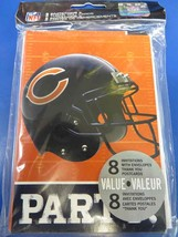 Chicago Bears NFL Pro Football Sports Party Invitations & Thank You Notes - $10.66