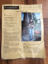 Black Purl Knitting Pattern Kathy's Cables Sweater Kokopelli Cables - $7.70