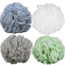 Goworth Large Bath Shower Sponge Pouf Loofahs 4 Packs 60g Each Eco-friendly Exfo image 1