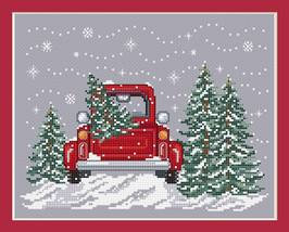 Bringing Home The Tree christmas holiday cross stitch chart Sue Hillis Designs  - $10.00