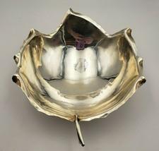Beautiful Vintage Sciarrotta Sterling Silver Leaf Bowl w/ Ball Feet #6922 - $395.00