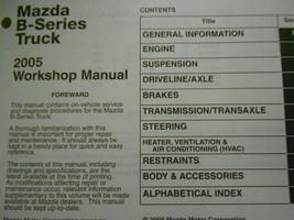 2005 Mazda B-Serie Truck Service Reparatur Shop Manuell Fabrik OEM Buch 05 image 2