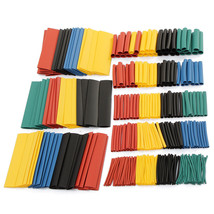 328Pcs 8 Sizes Multi Color Polyolefin 2:1 Halogen-Free Heat Shrink Tubing Assort - $15.95