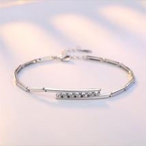 TJP New Fashion 925 Sterling Silver Bracelets For Women Bride Wedding Party Ankl - $10.29