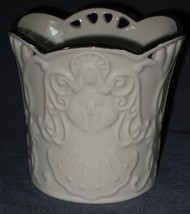 Lenox Merry Lights Angel Votive Candle Holder Sculpted Bas-relief - $14.95