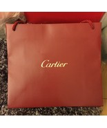 "Cartier Red Shopping Gift Paper Bag Size 12.5"" X 11"" x 4 3/4"" - NEW - $12.99"