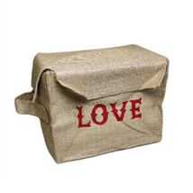 Sml Jute Box - Love folds flat for storage