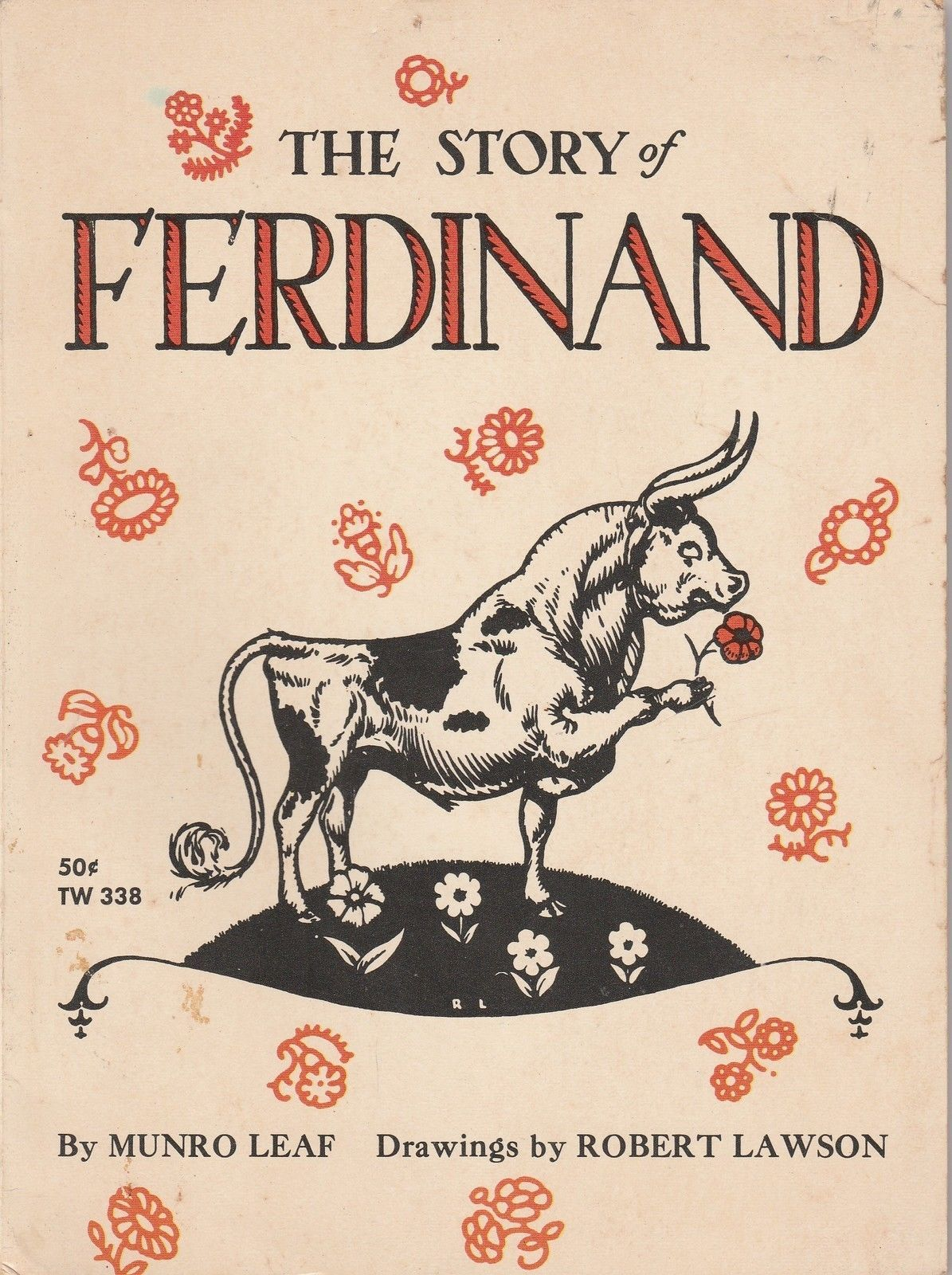 The Story of Ferdinand by Munro Leaf Robert Lawson 1965 Scholastic TW 338