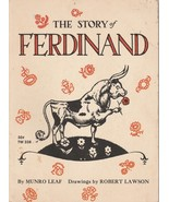 The Story of Ferdinand by Munro Leaf Robert Lawson 1965 Scholastic TW 338 - $7.91