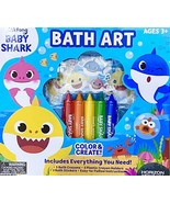 Baby Shark 7 Pieces Bath Art Set Games for Kids(+3 years) - $9.99