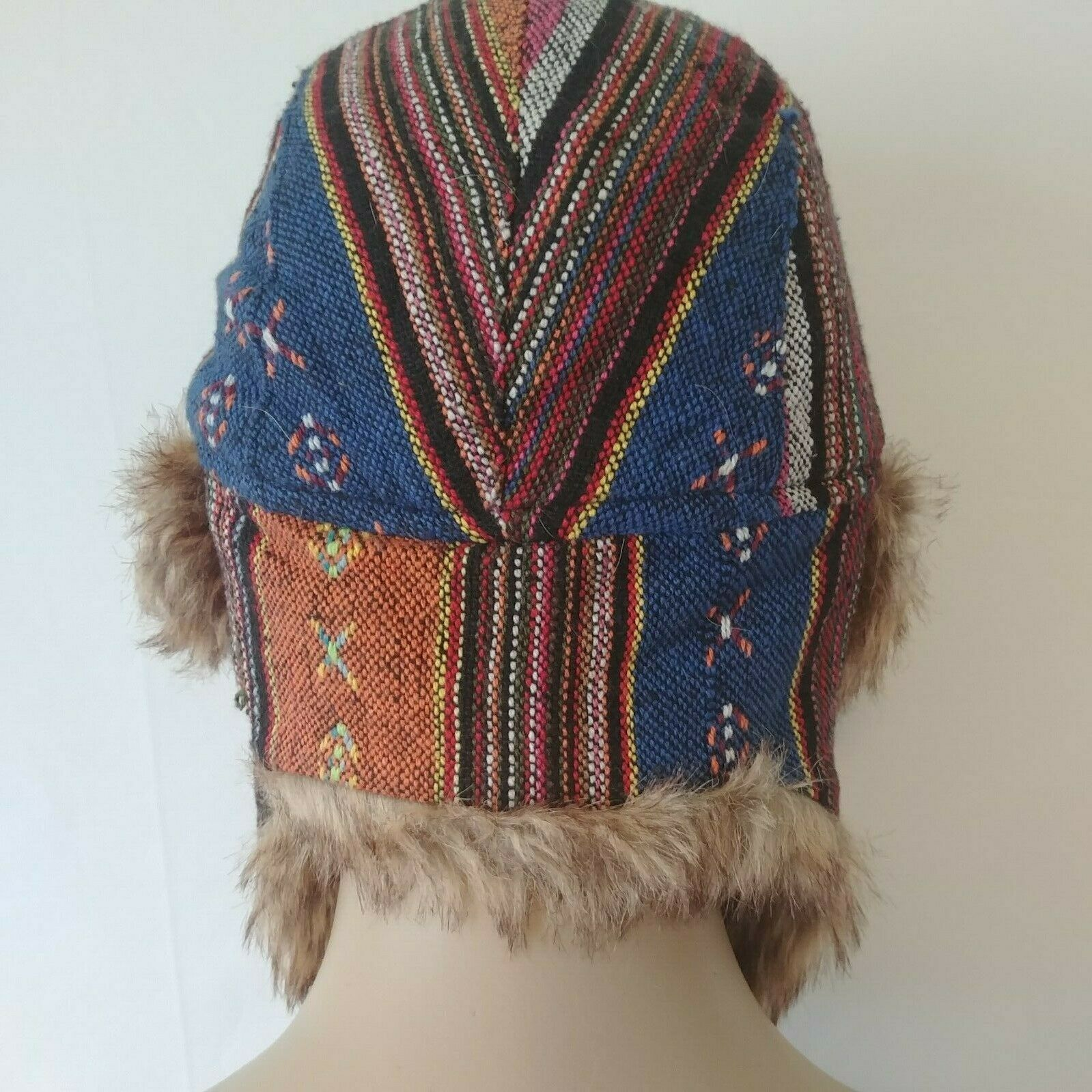 Adora Ushanka Hat With Ear Flaps Faux Fur Lining One Size Multi-Color Unisex
