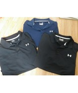 Lot of 3 UNDER ARMOUR Heat Gear LOOSE Coupe Lache Polo Golf Shirt Men's XL - $42.08