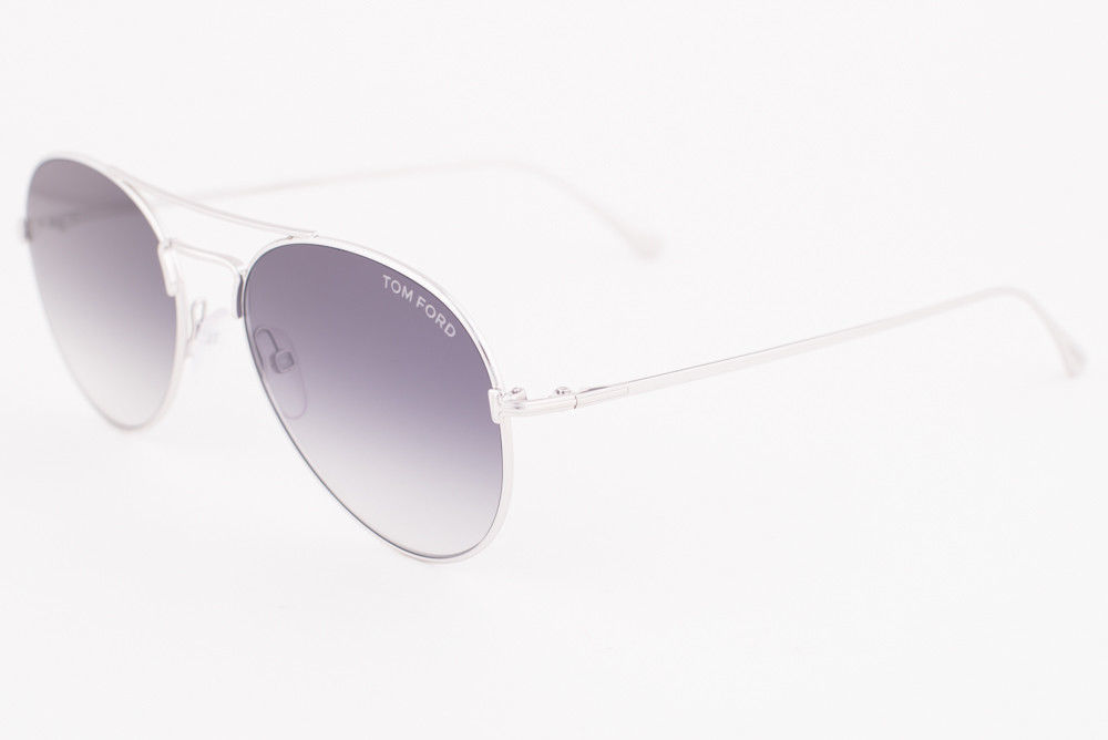 Primary image for Tom Ford Ace 02 Shiny Silver / Gray Gradient Sunglasses TF551 18B