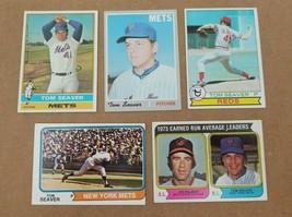 Tom Seaver Baseball Cards Lot of 5 1970 #300 1974 #80 1976 #600 1979 #100 Mets - $15.47