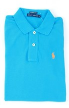 Ralph Lauren Turquoise Light Blue Womens Skinny Polo Shirt Size Extra Small XS - $50.39