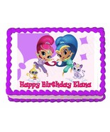 Shimmer and Shine party edible cake image cake topper frosting sheet - $7.80