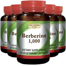 Only Natural Berberine 1000 mg 5X50 Vegetarian Capsules - $74.24