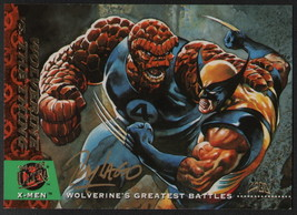 Ray Lago SIGNED X-Men Art Trading Card ~ Wolverine Vs The Thing 1994 Fle... - $19.79
