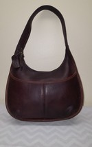 Vintage Coach 9033 Ergo Hobo Brown Leather Front Pocket Zip Close Should... - $24.18
