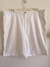 IZOD NEW Mens White Oxford Casual Shorts Sz W 42 100% Cotton NEW Flat Front - $13.56