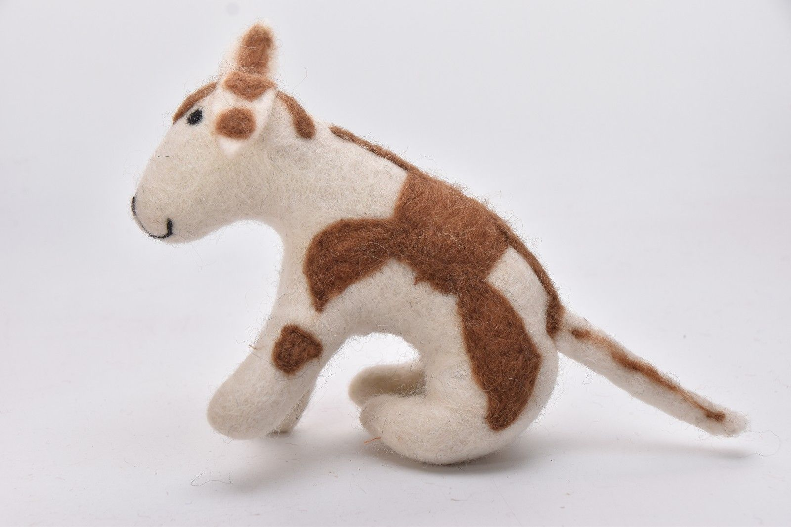 Handmade Small Dog Tiger Giraffe Yak Felt Ball Cartoon Animal Cart Colour  Nepal