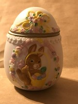 Vintage 1993 Hand Painted Easter Egg Trinket Box -Geo. Z. Lefton - $14.00