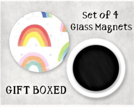Rainbow Large Glass Gem Magnet Set - Kitchen / Office / Locker / Fridge ... - $7.95