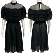 Vintage miss Ashlee California women's black dress size S - $28.70